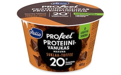 Valio Profeel proteiinivanukas 180g suklaa-toffee laktoositon