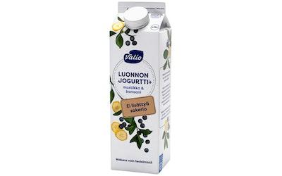 Valio Luonnonjogurtti+ 1kg mustikka&banaani laktoositon