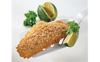 Food Service lime-yrttimaustettu kalaleike 80 g x 63 / 5,04 kg pakaste