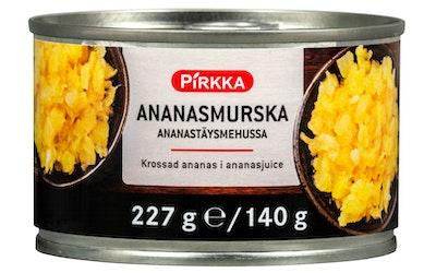 Pirkka ananasmurska ananastäysmehussa 227/140g