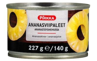Pirkka ananasviipaleet ananasmehussa 227g/140g
