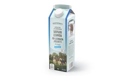 Juustoportti Vapaan lehmän AB luonnonjogurtti 1kg laktoositon