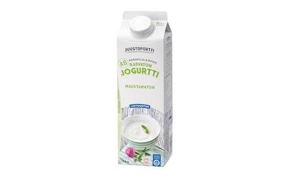 Juustoportti Rasvaton AB-jogurtti 1kg maustamaton laktoositon
