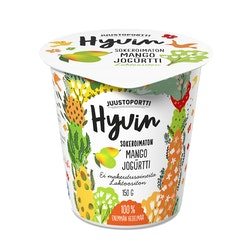 Juustoportti sokeroimaton jogurtti 150g mango laktoositon