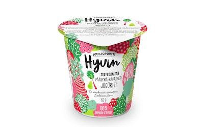 Juustoportti sokeroimaton jogurtti 150g päärynä-raparperi laktoositon