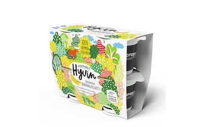 Juustoportti Hyvin sokeroimaton jogurtti 4x120g banaani laktoositon