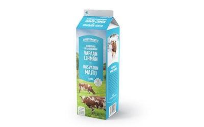 Juustoportti Vapaan lehmän rasvaton maito 1l