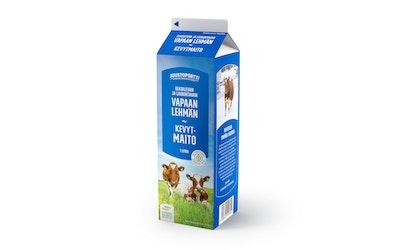 Juustoportti vapaan lehmän kevytmaito 1l