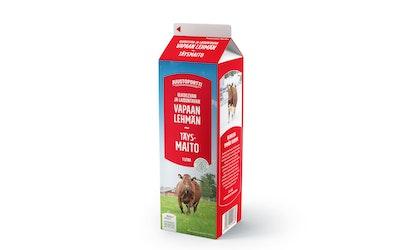 Juustoportti vapaan lehmän täysmaito 1l