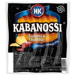 HK Kabanossi 360g salami&cheddar