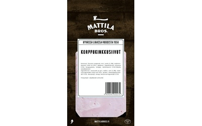 Veljekset Mattila Oy Timber! Korppukinkkusiivut 110 g