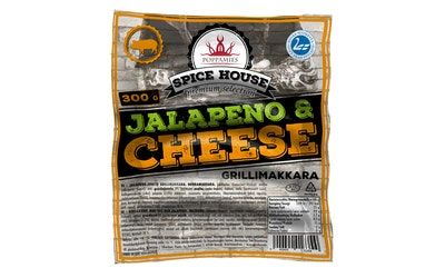 Poppamies grillimakkara jalapeno-cheese 300g