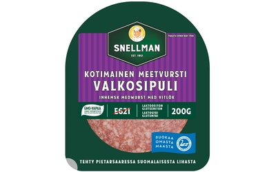 Snellman Kotimainen valkosipuli meetvursti 200 g