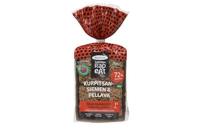 Rosten Siemen Rapeat siemennäkkileipä 250g Kurpitsansiemen-pellava