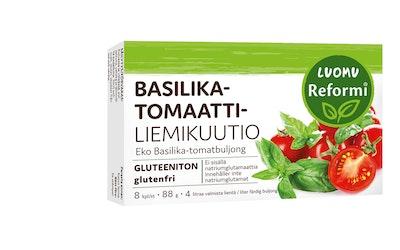 Reformi Luomu basilika-tomaattiliemikuutio 8kpl 88g