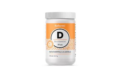 Monivita 40g 100 tabl D-vitamiini 50µg ravintolisä