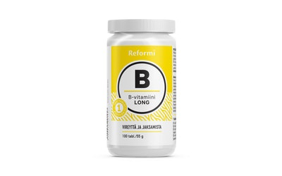 Reformi B-vitamin Long 100kpl/55g