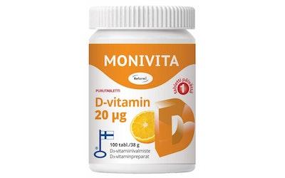 Reformi D-vitamiini ksylitoli 20 mikrogr. 100 tabl.