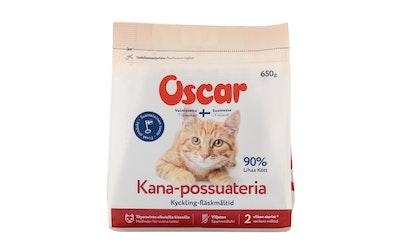 Oscar kana possuateria kissoille 650g kotimainen ja viljaton