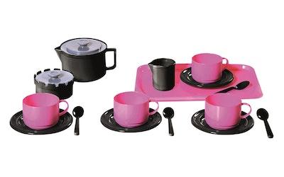 Plasto Kahviastiasto neljälle, pinkki