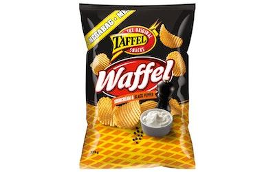 Taffel Waffel 325g ranskankerma&mustapippuri maustettu perunalastu