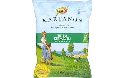 Taffel Kartanon perunalastu 180g tilli&kermaviili