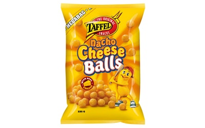 Taffel maustettu juustosnacks 235g nacho cheese balls
