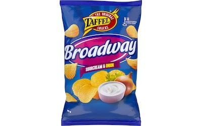 Taffel Broadway 75g sourcream&onion maustettu perunalastu