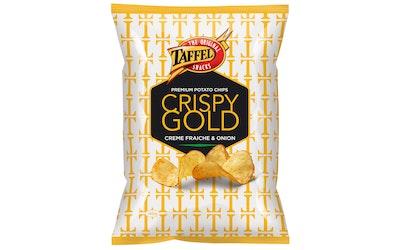 Taffel Crispy Gold 160g creme fraiche & onion potatochips