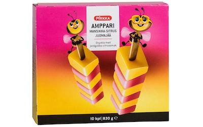 Pirkka Amppari mansikka-sitrus juomajää 10kpl/830 g
