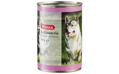 Pirkka koiran liha-ateria sydän 400 g