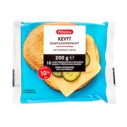 Pirkka Kevyt sulatejuustoviipaleet 10% 200 g