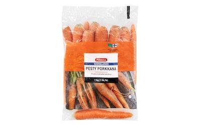 Pirkka suomalainen pesty porkkana 1kg 1 lk
