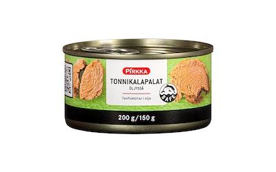 Pirkka tonnikalapalat öljyssä 200g/150g