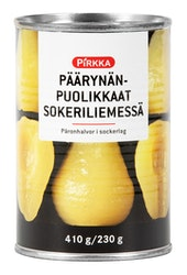 Pirkka päärynänpuolikkaat sokeriliemessä 410 g/230 g