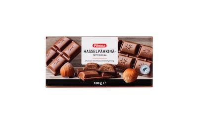 Pirkka hasselpähkinätäytesuklaa 100 g UTZ