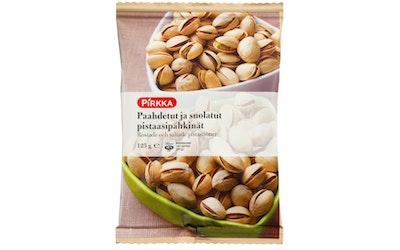 Pirkka paahdetut ja suolatut pistaasipähkinät 125g
