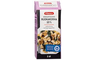 Pirkka vähälaktoosinen ruokakerma 10% 2dl