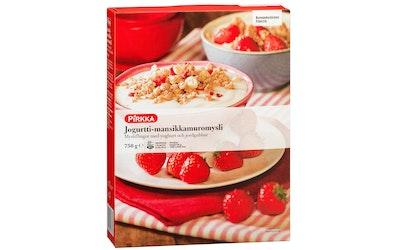 Pirkka jogurtti-mansikka muromysli 750 g