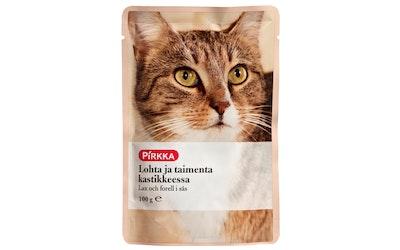 Pirkka kissan lohta ja taimenta kastikkeessa100 g