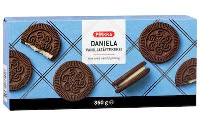 Pirkka Daniela vaniljanmakuinen täytekeksi 350g