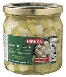 Pirkka salaattijuustokuutiot   öljymarinadissa 375/200 g