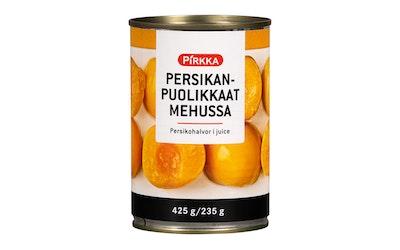 Pirkka persikanpuolikkaat mehussa 425/235g