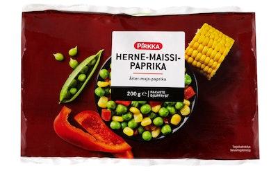 Pirkka herne-maissi-paprika 200g pakaste