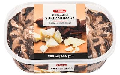 Pirkka kermajäätelö suklaakimara 900ml/456g