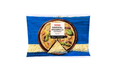 Pirkka emmental-mozzarella juustoraaste 500 g