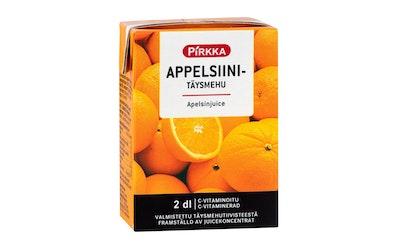 Pirkka appelsiinitäysmehu 2 dl