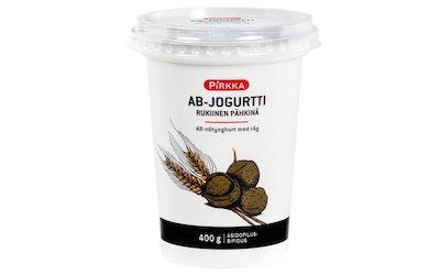 Pirkka asidofilus-bifidus rukiinen pähkinäjogurtti 400 g