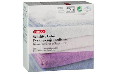 Pirkka sensitive color pyykinpesujauhetiiviste kirjopyykille 750g