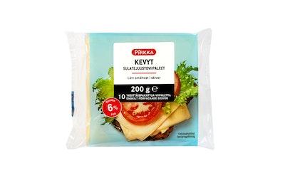 Pirkka Kevyt sulatejuustoviipaleet 6% 200 g